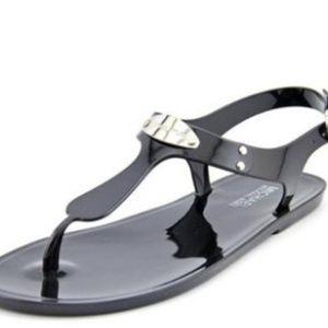 Michael Kors Plate Jelly Womens Black Sandals 8M
